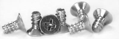 """#6 x 3/8"""" Type B Self-Tapping Screws / Phillips / Flat 100 Head / Steel / Zinc"""