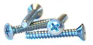 "#8 x 1/2"" Type B Self-Tapping Screws / Phillips / Oval Head / Steel / Zinc"