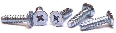"#4 x 3/8"" Type B Self-Tapping Screws / Phillips / Flat Undercut Head / 18-8 Stainless Steel"