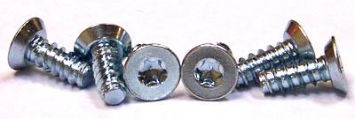 """#8 x 1/4"""" Type B Self-Tapping Screws / Six-Lobe (Torx®) / Flat Undercut Head / Steel / Zinc"""
