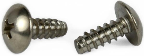 "#6 x 1/4"" Type B Self-Tapping Screws / Phillips / Truss Head / Steel / Zinc"