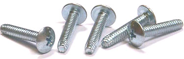"1/4-20 x 1 1/2"" Type F Thread Cutting Screws / Phillips / Truss Head / Steel / Zinc"