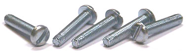 "1/4-20 x 3/4"" Type F Thread Cutting Screws / Slotted / Pan Head / Steel / Zinc"