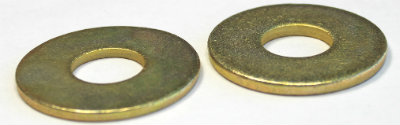 "1/4"" SAE Flat Washers / Steel / Zinc Yellow"