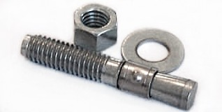 "1/4-20 x 3"" Wedge Anchors / Steel / Zinc"
