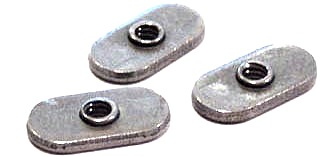 10-24  Center Hole Tab Weld Nuts / No Projections / Steel / Plain