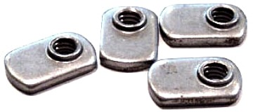3/8-24  Offset Hole Tab Weld Nuts / No Projections / 18-8 Stainless Steel