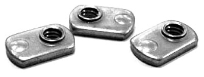 10-32 Single Projection Tab Weld Nuts / Steel / Plain