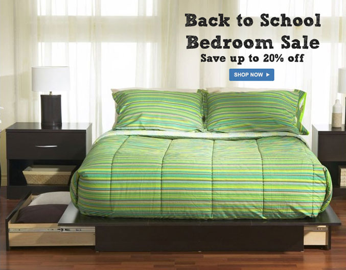 back to school bedroom sale