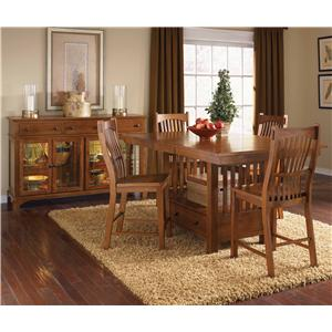 AAmerica Laurelhurst 5-Piece Rectangular Gathering Height Table Set