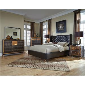 Michael Amini Hollywood Loft Queen Bedroom Group