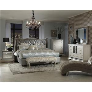 Michael Amini Hollywood Swank Queen Bedroom Group