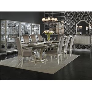 Michael Amini Hollywood Swank Formal Dining Room Group