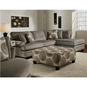 Albany 8642 Transitional Sectional Sofa with Chaise
