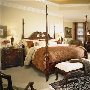 American Drew Cherry Grove 45th King Traditional Mansion Bed