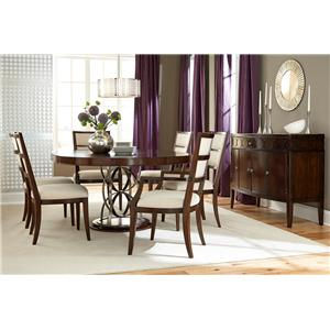 American Drew Motif Formal Dining Room Group 5