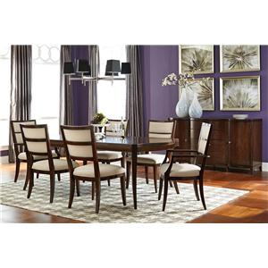 American Drew Motif Formal Dining Room Group 4