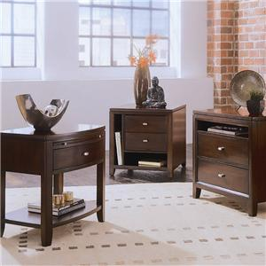 American Drew Tribecca Full Bookcase Bed with Nightstands