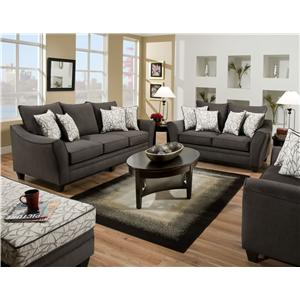 Vendor 610 3850 Stationary Living Room Group