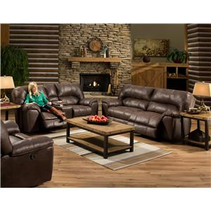 American Furniture AF740 Power Reclining Living Room Group