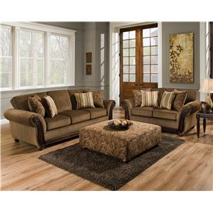 American Furniture 5650 Stationary Living Room Group