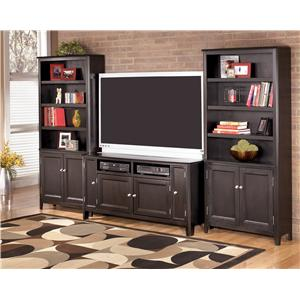 Signature Design by Ashley Carlyle 42 Inch TV Stand with 2 Open Media Compartments