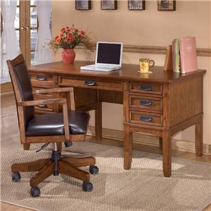Ashley Furniture Cross Island Mission Office Leg Desk with Storage