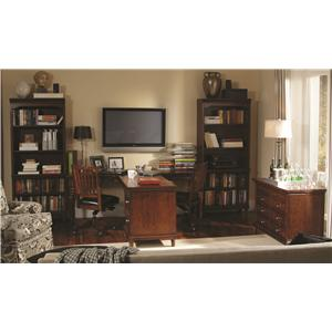 Aspenhome Villager Dual T Desk with 2 Drawers and 4 AC Outlets