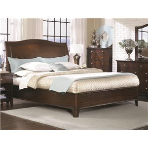 Aspenhome Lincoln Park Queen Low Profile Bed with Upholstered Panel Headboard & Two-Drawer Storage Footboard