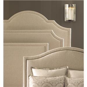 Bassett Custom Upholstered Beds Queen Florence Upholstered Headboard and Low Footboard Bed
