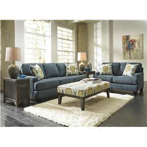Benchcraft Brileigh - Teal Stationary Living Room Group