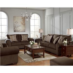 Benchcraft Doralynn - Java Stationary Living Room Group