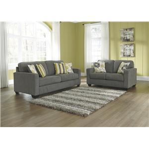 Benchcraft Safia - Slate Stationary Living Room Group