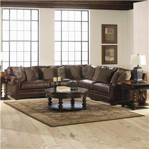 Bernhardt Grandview 5 Piecetraditional Sectional Sofa