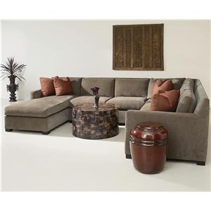 Bernhardt Interiors - Kelsey 4 Piece Sectional with Chaise