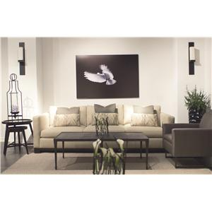 Bernhardt Lanai  Modern Styled Sofa with Slight Asian Influence in Standard Sofa Size
