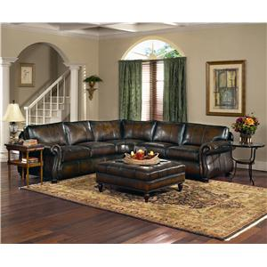 Bernhardt Van Gogh Leather Sectional Group