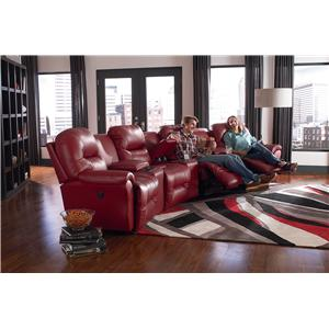 Best Home Furnishings Bodie Power Space Saver Reclining Loveseat with Storage Console