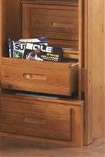 canyon creekside full captains bed w/ bookcase - dayton