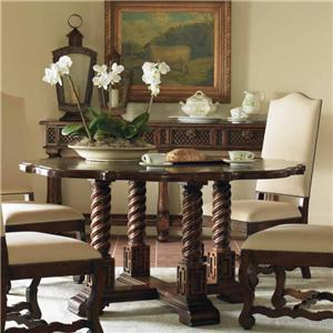 Century Marbella 661 Cipriano Pedestal Side Table