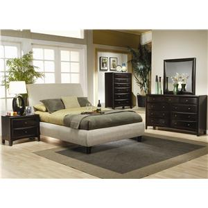 Coaster Phoenix Eastern King Contemporary Upholstered Bed