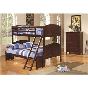 Coaster Parker Casual Twin Panel Bed with Underbed Storage