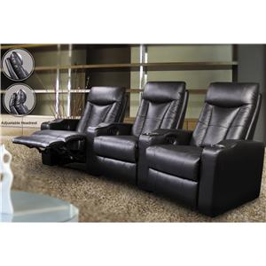 Coaster Pavillion Contemporary Leather Theater Seating