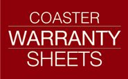 Coaster Warranty Sheets