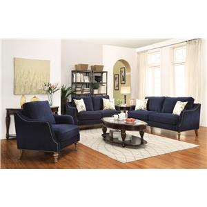 Coaster Vessot Stationary Living Room Group