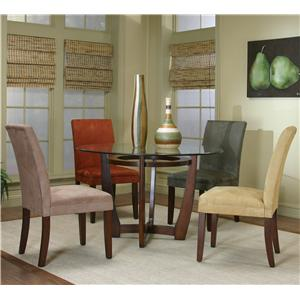 Cramco, Inc Contemporary Design - Parkwood Counter Height Dining Table with Cherry Wood Base