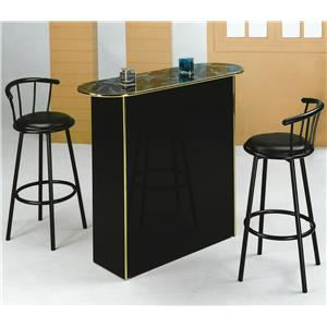 Crown Mark Poly Poly Marble Home Bar Table