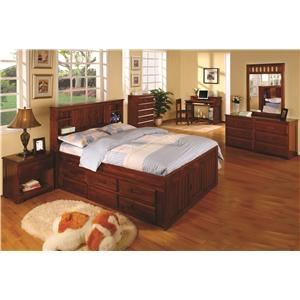 Discovery World Furniture Merlot Chest with 5 Drawers