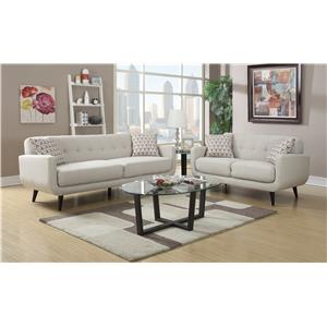 Elements International Hadley Stationary Living Room Group