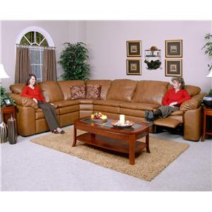 England Lackawanna 5-Piece Leather Theater Seating